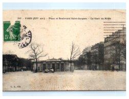 75 PARIS - Place Et Boulevard Saint Jacques - La Gare Du Métro (chemin De Fer) 14ème Arrondissement - Distretto: 14