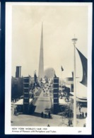 Cpa  De New York Exposition  World's  Fair 1939 Avenue Of Pioneers With Perisphere And Trylon    LZ55 - Expositions