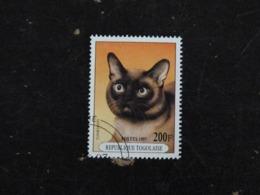 TOGO YT 1557 OBLITERE - CHAT CAT KATZ - TONKINOIS - Togo (1960-...)