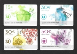 Carte Cadeau SUPER U   BAIN DE BRETAGNE  (35).   Gift Card.   Geschenkkarte - Cartes Cadeaux