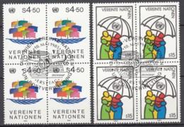 N° 49 Et N° 50 En Bloc De 4 - O - ( E 1967 ) - Centre International De Vienne