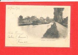 80 CORBIE Cpa PENICHE Canal De La Somme    Edit Dubois Bleux - Corbie
