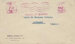 19-4-1926- Enveloppe Avec Empreinte Machine A 0070 à 50 C + A 0072 à 75 C   Pour Lausanne ( Tarif Du 1 / 2 Au 1/8 ) - Marcophilie (Lettres)