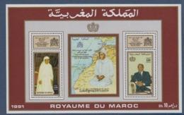 MAROC-1991-BLOC N°20** INTRONISATION DE HASSAN II - Marocco (1956-...)