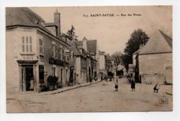 - CPA SAINT-SATUR (18) - Rue Des Ponts 1910 (BOUCHERIE DE LA MARINE) - Editions Gouttefangeas 517 - - Saint-Satur