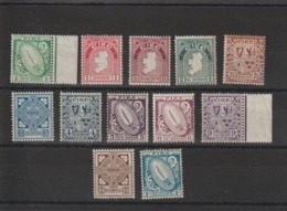 Irlande 1922  Série Courante 40-51 12 Val ** MNH - 1922-37 État Libre D'Irlande