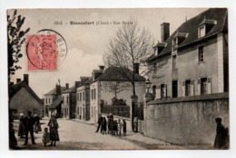 - CPA BLANCAFORT (18) - Rue Haute 1906 (belle Animation) - Collection Marchand 1313 - - France