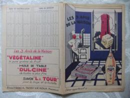 """Année 60  1 Protège Cahier Les 3 Amis De La Maison. Végétaline - Huile Dulcine - Savon """"La Tour"""" - Mappe"""
