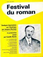 Festival Du Roman N°78 : Quelques Impressions Sur L'Amérique Par J. Maritain / La Protectrice Par C. Marbo De Collectif - Libri, Riviste, Fumetti
