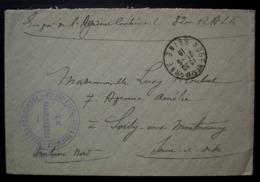 1918 Nogent Sur Marne 82eme Régiment D'artillerie à Tracteurs Franchise Postale - Storia Postale