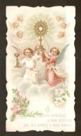 CHROMO IMAGE PIEUSE 1ère COMMUNION ANGE ANGEL - JEANNE LENFLE CATHÉDRALE D'AMIENS 22 JUIN 1905 - Santini