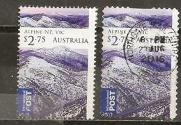 Australie Australia 2014 Alps Victoria Obl 2 Types Perforation - 2010-... Elizabeth II