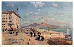 !  Alte Ansichtskarte Napoli, Neapel, Santa Lucia Hotel - Napoli (Napels)