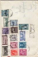 Roumanie - Lettre Recom De 1940 ° - Oblit Bucuresti - Exp Vers Gand - Chevaux - Statues - Rois - - Lettres & Documents