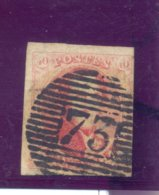 Nr. 8A Lijnafstepeling 73  Medaillon - 1851-1857 Medaillons (6/8)