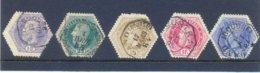 Nrs. TG3A/TG7A Gestempeld - Telegraphenmarken
