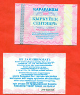 Kazakhstan 2019. City Karaganda. September Is A General Ticket - A Monthly Bus.  Plastic. - Abonos