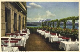 Luzern Hotel Mostrose Et De La Tour Spelseterasse Colorisée RV - LU Lucerne