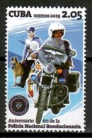 Cuba 2019 / Dog Police Motorcycle MNH Policía Motos Perro Hund Motorrad Polizei / Cu14017  C3-18 - Perros