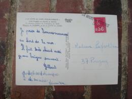 Saint Maurice De Taine 37  Griffe Marque Lineaire Obliteration De Fortune Sur Lettre - Marcofilie (Brieven)