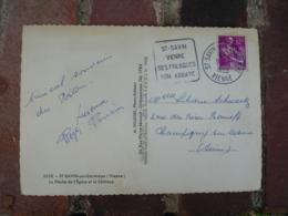 Daguin Saint Savin Vienne Fresque Abbaye Flamme Omec Sur Lettre - Storia Postale