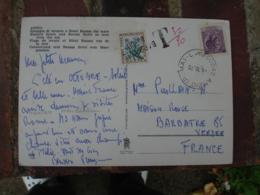 Lettre Taxee Obliteration Barbatre De Fortune Lineaire Sur Timbre Taxe Fleurs 0.40 - Marcofilia (sobres)