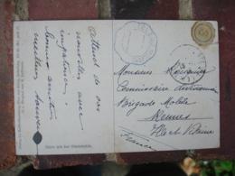 Telegramme Militaire Cachet Bleu Franchise Postale Militaire Tresor Et Poste 77 Guerre 14.18 - Marcofilie (Brieven)