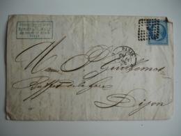 D Dans Triangle Point Obliteration Paris Sur Lettre Timbre Empire 20 C - Marcophilie (Lettres)