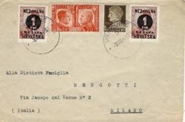 1941- Cover From VRHOVINE ( Croatie  Mixte Franking )  To Milano - 4. 1944-45 Sozialrepublik