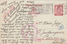 BELGIQUE 1943    ENTIER POSTAL/GANZSACHE/POSTAL STATIONERY CARTE CENSUREE DE BRUXELLES POUR BERNE - Enteros Postales