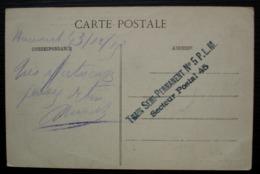 1915 Train  Semi-permanent N° 5 P.L.M  Secteur Postal 45 Marque Linéaire Sur CPA La Guerre En Lorraine Baccarat Bombardé - Marcophilie (Lettres)