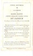 Marie Jeanne DU JARDIN Décédée à Bruges Le 6 Mai 1866. - Décès
