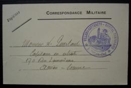 Villers-Cotterets Hôpital Temporaire 1915 Correspondance Militaire Pour Amiens (Somme), Cachet Très Bien Frappé - Guerre De 1914-18