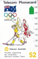 Australia, N91041-2,  Women's Hockey (N91041-1-2), Olympic Games 1992, 2 Scans. - Australia