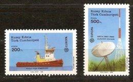 Chypre Turc Turks  Cyprus CEPT 1988 Yvertn° 208-209 *** MNH  Cote 4,00 Euro Transport Er Communication - Europa-CEPT