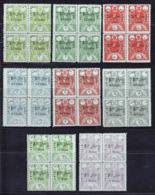Iran Persia 1925, Provisories, MINH, Blocks Of 4, Very High CV !!! - Iran