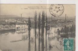 CPA-60-Oise- CREIL- Inondation De L'Oise- Mars 1910- La Pointe De L'Ile Et Le Quartier Des Usines- - Creil