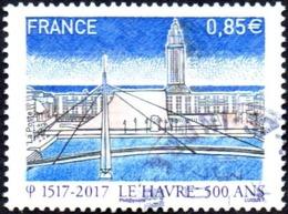 Oblitération Cachet à Date Sur Timbre De France N° 5166 - 500 Ans Du Havre - Bassin Du Commerce, Pont De Normandie - France