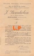 44-0718    EPICERIE MERCERIE QUINCAILLERIE J BOURDICHON A MONTIGNAC - France
