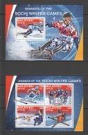 ML042 2016 MALDIVES SPORTS OLYMPIC GAMES SOCHI 1KB+1BL MNH - Winter 2014: Sochi