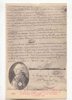 CPA Histoire - Lettre  De Louis XVI  Demandant 3 Jours Afin De Préparer à La Mort - Achat Immédiat  (cd 003) - Historia