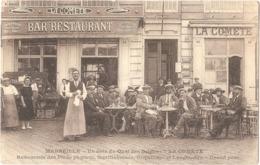 """Dépt 13 - MARSEILLE - Un Coin Du Quai Des Belges - """"LA COMÈTE"""" - BAR-RESTAURANT - Devanture - Old Port, Saint Victor, Le Panier"""