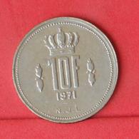 LUXEMBOURG 10 FRANCS 1971 -    KM# 57 - (Nº31419) - Luxemburgo