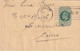GRANDE-BRETAGNE 1903 ENTIER POSTAL/GANZSACHE/POSTAL STATIONERY BANDE JOURNAL DE LONDRES - Stamped Stationery, Airletters & Aerogrammes