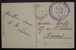 Coblence (Moselle) Régie Des Chemins De Fer Des Territoires Occupés Secteur Postal * 131*, Sur CPA Pour Amiens - Marcofilie (Brieven)