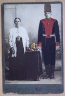 Imperial Russia. Salon Portrait. St.Petersburg. A Soldier With His Mother. Kodlubovich - Guerra, Militares