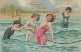 Oostende  *   Souvenir D'Ostende  (baadsters - Baigneuses) - Oostende