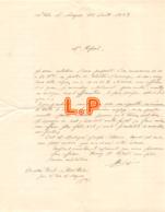 43-0024    1928 LETTRE L ISLE SUR SORGUE - Manuscrits