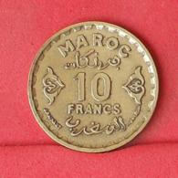 MOROCCO 10 FRANCS 1371 -    KM# 49 - (Nº31432) - Maroc