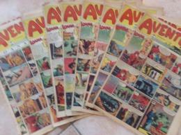 Lot 11 Aventures N 2 44 42 4140 38 37 36 35 34 33 Bd Belges 1950 - Magazines Et Périodiques